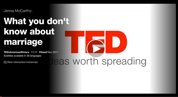 I love TED Talks. Always insightful. Always worth your time.  Watch this discussion on divorce by...